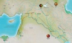 Mapa cu ta mustra luganan di Bijbel relaciona cu e bida di Abel, Noe, Abraham
