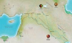 Bibliapi rikuriq llaqtakunapa mapa nisqan Diosman sonqo Abel, Noey, Abran (Abraham)