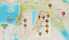 Map bann landrwa dan Labib ki relye avek lavi Ana, Samyel, Abigail, Eliya, Mari ek Zozef, Zezi, Mart, ek Pyer ki ti bann zonm ek fanm fidel
