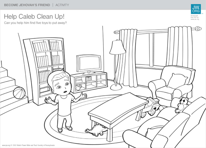 Help Caleb Clean Up! | Become Jehovah's Friend