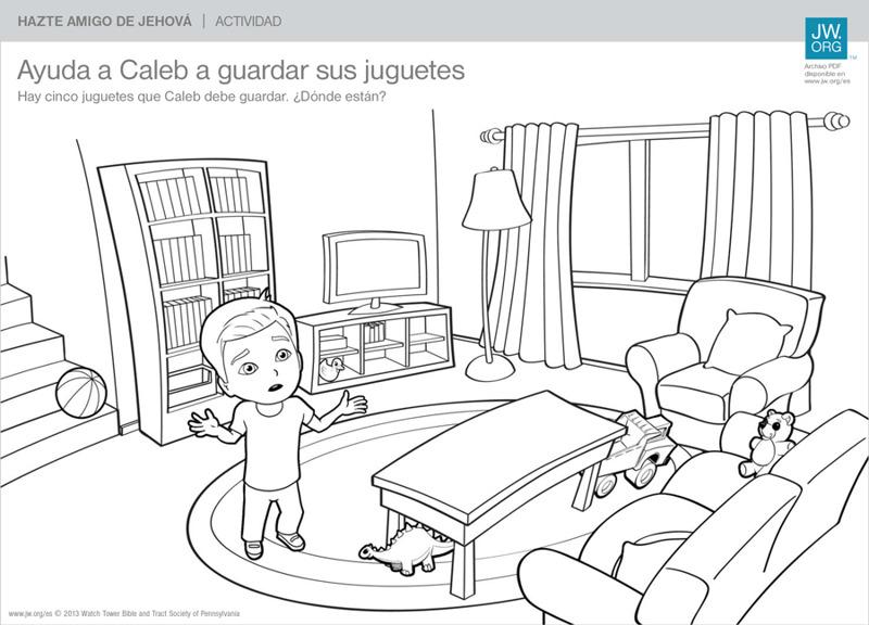 Ayuda a Caleb a guardar sus juguetes | Hazte amigo de Jehová