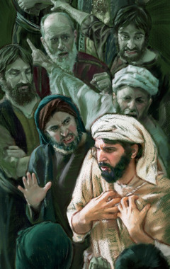 ارميا وسط رجال غاضبين