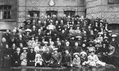En grupp bibelforskare i Köpenhamn 1909.