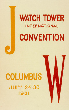 Convention program from the Columbus, Ohio, U.S.A., convention of Bible Students in 1931