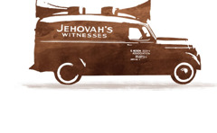 A sound car used by Jehovah's Witnesses for the preaching work