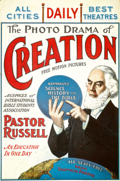 "Poster advertising the ""Photo-Drama of Creation"""
