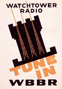 Poster advertising WBBR radio station