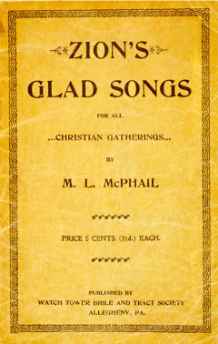 Cover of the book Zion's Glad Songs, 1900