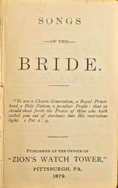 Cover of the book Songs of the Bride, 1879