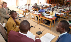 The first class of Ministerial Training School in Malawi