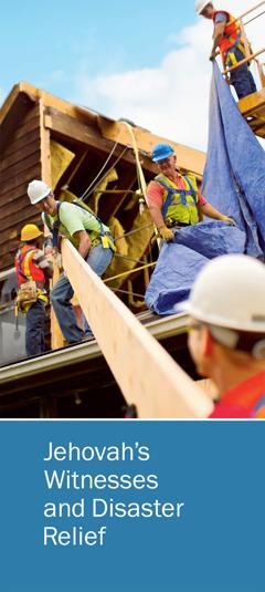 """Titelseite der Broschüre """"Jehovah's Witnesses and Disaster Relief"""" (Jehovas Zeugen und Katastrophenhilfe)"""