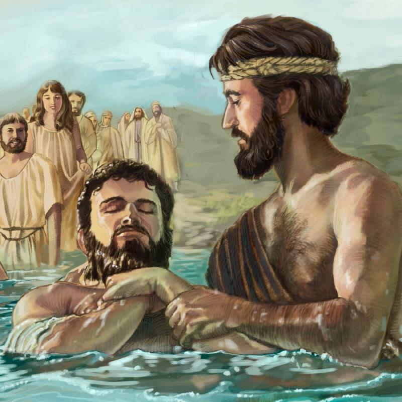 Tövbə edən yəhudilər Yəhyanın yanına vəftiz olunmağa gəlirlər