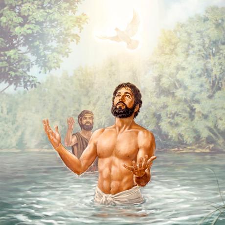 Jesus recebe espírito santo durante seu batismo