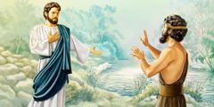 Jesus pede para ser batizado, mas João não concorda