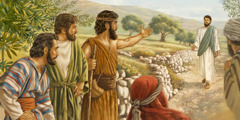 John the Baptist identifies Jesus as the Lamb of God