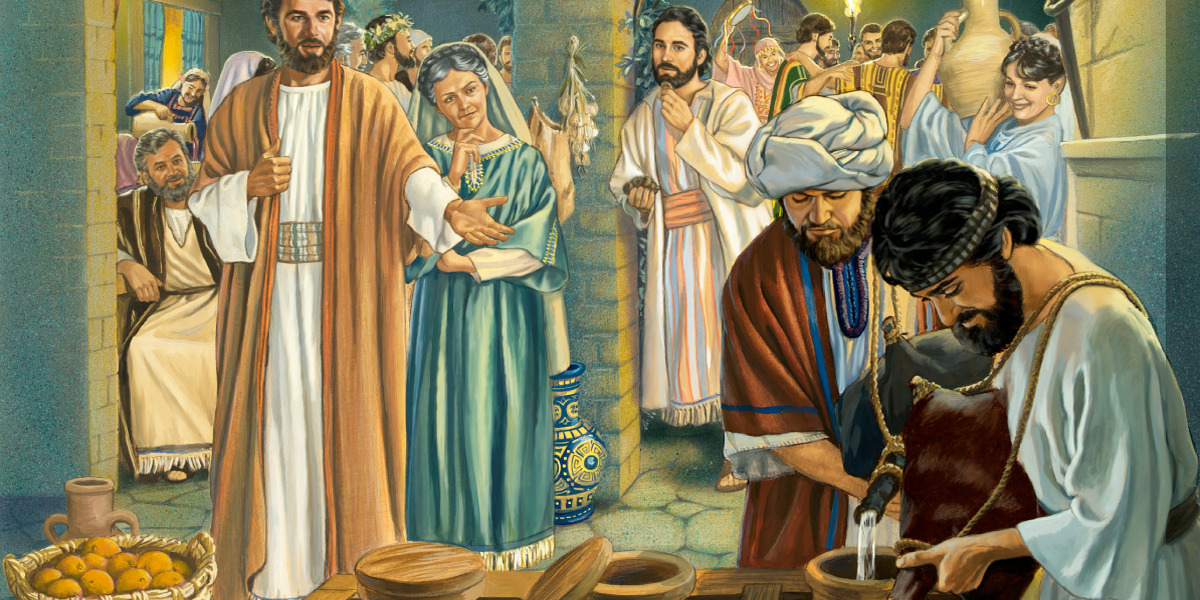 Wedding Feast At Cana.Jesus First Miracle Life Of Jesus