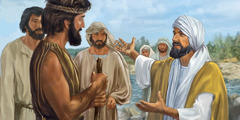 John the Baptist talks with his disciples