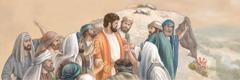 Banna bao ba tšwago sinagogeng ba iša Jesu legageng la thaba