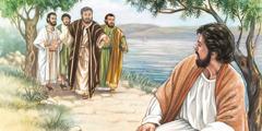 Péter, András, Jakab és János megtalálják Jézust