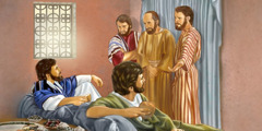 John the Baptist's disciples ask Jesus about fasting