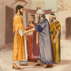 Elders of the Jews approach Jesus