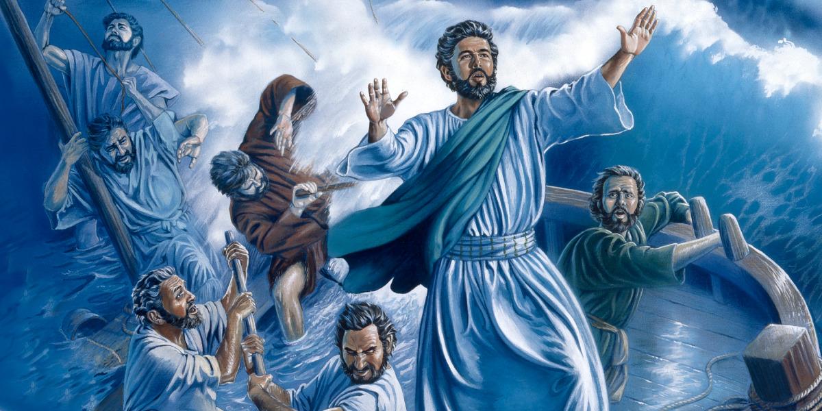 Isus potoleşte o furtună pe Marea Galileii