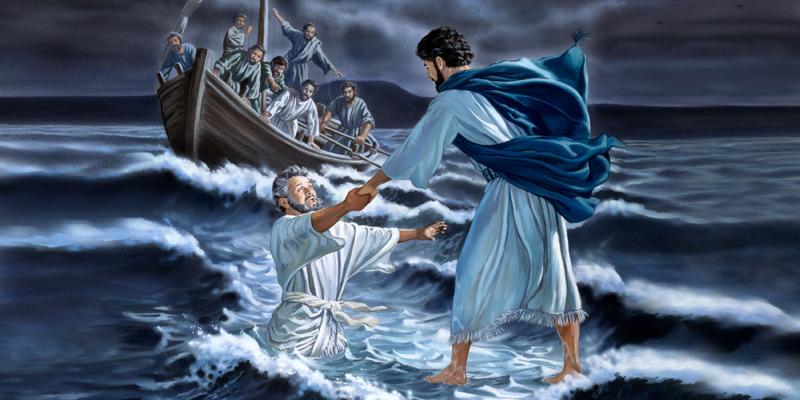 Jésus marche sur l'eau   Vie de Jésus