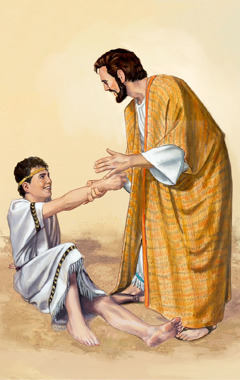 Jesus healing a demon-possessed boy