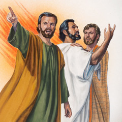 Jesus with his disciples James and John