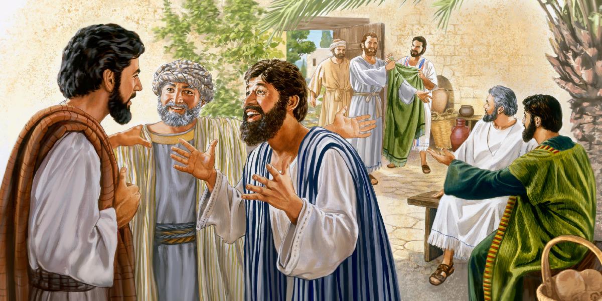 Cheios de alegria, alguns dos 70 pregadores do Reino relatam a Jesus detalhes sobre sua campanha de pregação