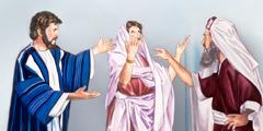 Синагога башчысы Иса пайгамбарга аялды Ишемби күнү айыктырганы үчүн ачууланып жатат