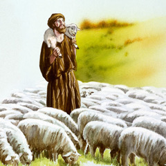 A shepherd rejoices over finding his lost sheep as he carries it on his shoulders