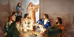 Sel sporoča Jezusu, da je Lazar bolan.