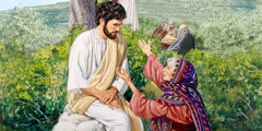 Salome approaches Jesus and makes a special request in behalf of her sons
