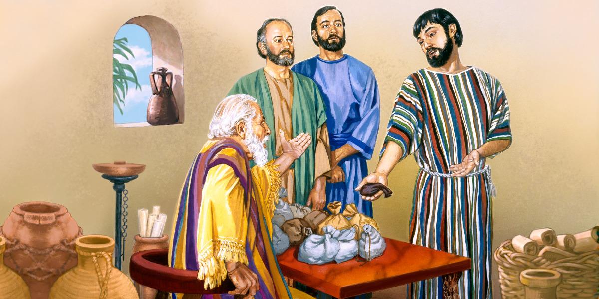 Un serviteur rend la mine à son maître