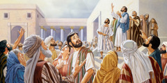 "Jesus says: ""Father, glorify your name,"" and Jews standing nearby hear God's voice"