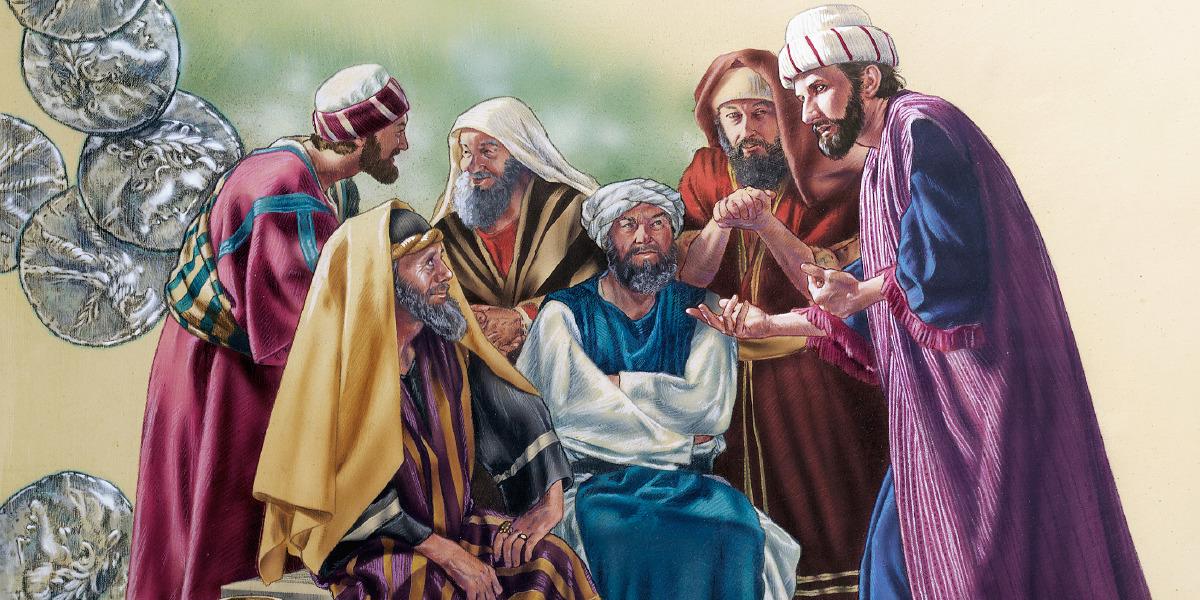 Resultado de imagen de imagenes de judas hablando con los sacerdotes