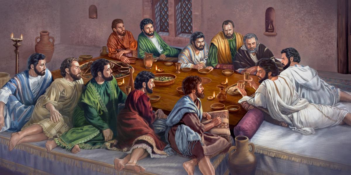 Resultado de imagen de imagenes de jesus cenado con los apostoles