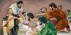 Jesus' apostles argue over which one of them is the greatest