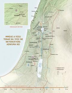 Map a ɛkyerɛ mmeae a Yesu tenae na ɔyɛɛ ne nkyerɛkyerɛ adwuma no