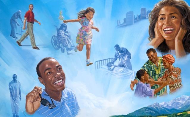 Un anciano vuelve a ser joven. Una niña deja su silla de ruedas y corre. Los muertos vuelven a vivir. Los ciegos y los enfermos se curan