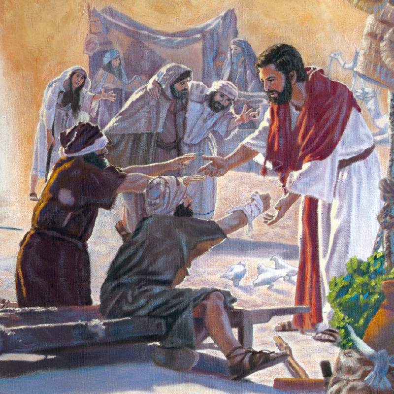 Jesus reaches out to touch and heal the sick