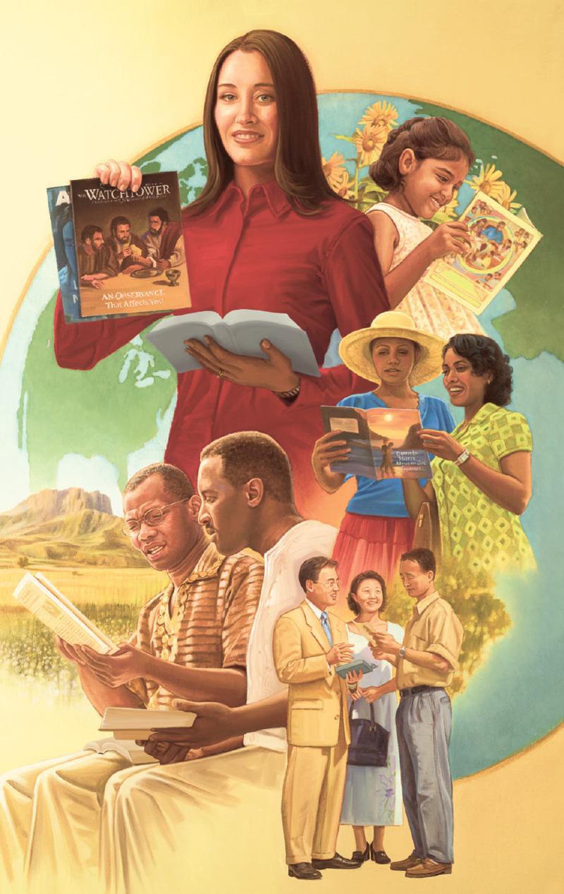 Los testigos de Jehová predican las buenas noticias del Reino por toda la Tierra
