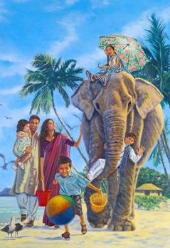 Счастливая семья в раю