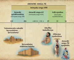 Chart: Itshathi: Isiphrofetho samaviki angu-70 esikuDanyeli isahluko 9 sisitshela ngomnyaka uJesu ayezaba nguMesiya ngawo