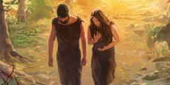 آدم وحواء يخرجان من جنة عدن