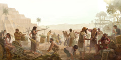 بعدما بلبل الله السنة الناس، لم يعودوا يقدرون ان يشتغلوا معا في برج بابل