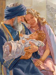 ايوب وزوجته ومعهما طفل صغير