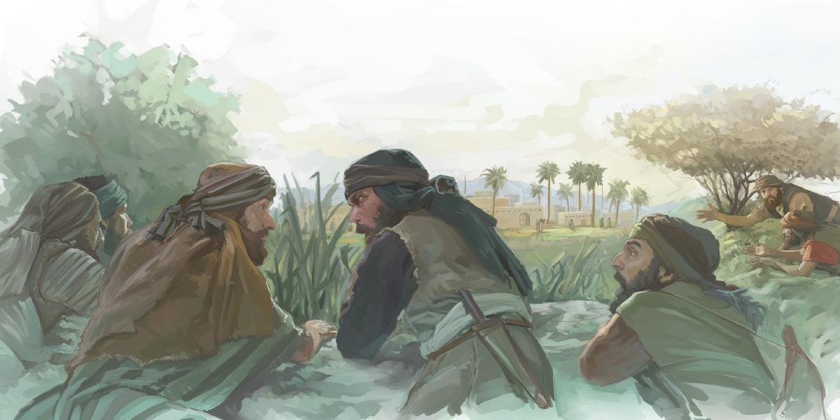 Des hommes israélites espionnent le pays de Canaan