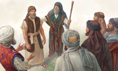 Moses dey make Joshua leader for front of the priest and other people